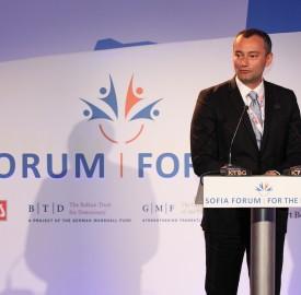 Bulgarian Foreign Minister Nikolai Mladenov at the Sofia Forum for the Balkans