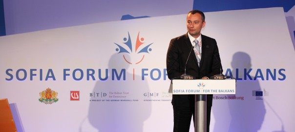 Bulgarian Foreign Minister Nikolai Mladenov at the Sofia Forum for the Balkans