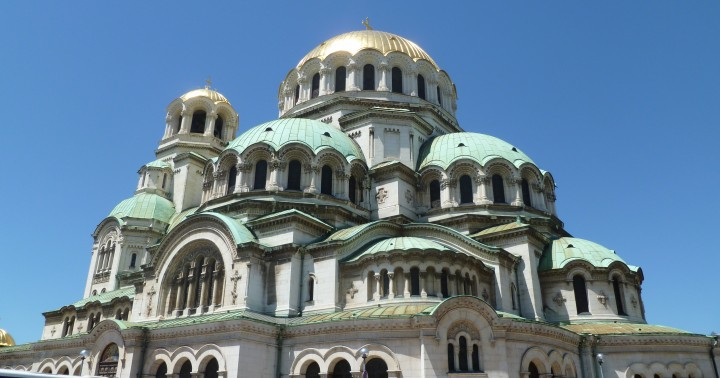 The cathedral church of Alexander Nevsky in the Bulgarian capital city Sofia