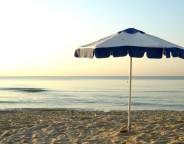 Umbrella on a sandy beach in Varna Bulgaria