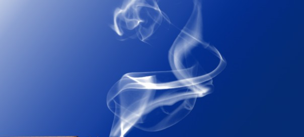 burning cigarette on a blue background photo Gabriella Fabbri sxc hu