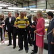 Bulgarian PM Boyko Borissov and SA ambassador Sheila Camerer at ALC plant official opening
