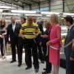 Bulgarian PM Boyko Borissov and SA ambassador Sheila Camerer at ALC plant official opening