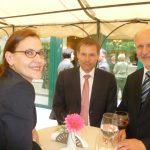 Croatian ambassador Danijela Barišić, Belgian ambassador Marc Michielsen and Austrian ambassador Gerhard Reiweger