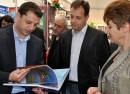 Bulgaria's Economy Energy and Tourism Minister Delyan Dobrev, left.