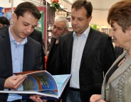 Bulgaria's Economy Energy and Tourism Minister Delyan Dobrev, left.