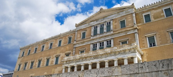 the parliament of Greece in capital city Athens