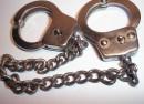 a pair of handcuffs