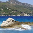 The Aegean Sea at the beach of Kokkari, island of Samos, Greece