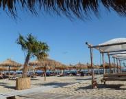 beach straw umbrellas