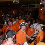 Dutch fans in J.J. Murphy's watch the Netherlands take on Denmark in their opening fixture of Euro 2012
