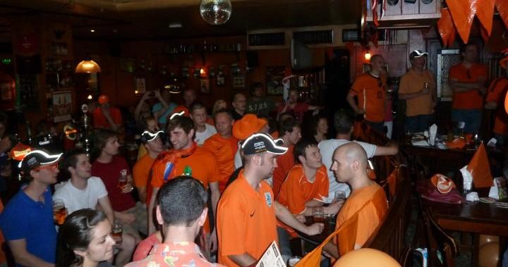 Dutch fans in J.J. Murphy's watch the Netherlands take on Denmark in their opening fixture of Euro 2012