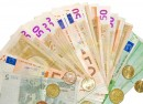 a fanned-out sheaf of euro notes