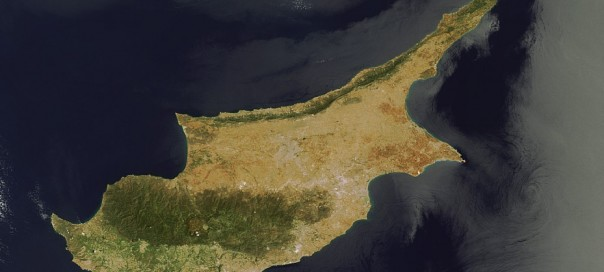 aerial photo by nasa of the island of cyprus