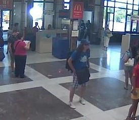 The suicide bomber in Bourgas Airport, as recorded by a security camera.