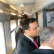 Bulgarian transport minister Ivailo Moskovski inspects new BDZ sleeping cars