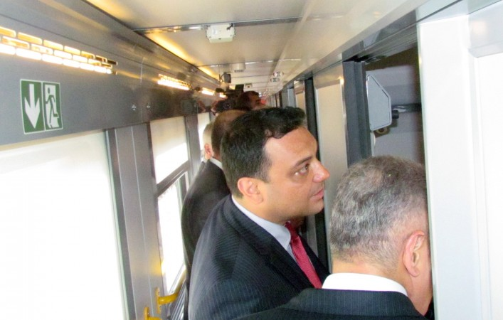 Bulgarian transport minister Ivailo Moskovski inspects new BDZ sleeping cars