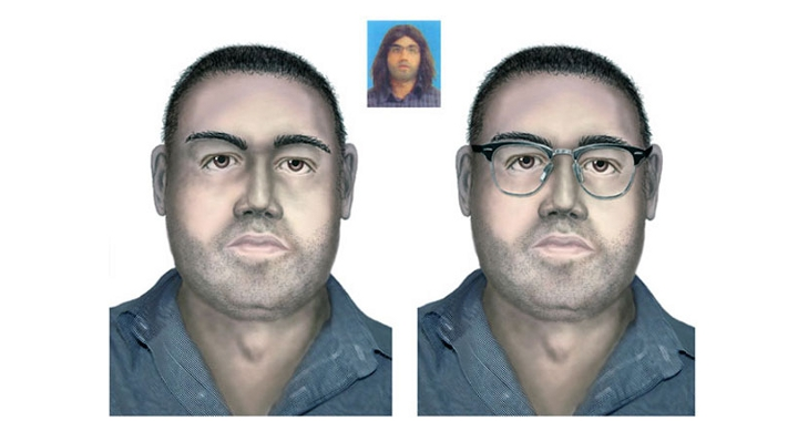 An artist's impression of one of the accomplices. Photo: Interior Ministry