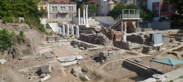 The Odeon archaeological site, Plovdiv. Photo: Clive Leviev-Sawyer