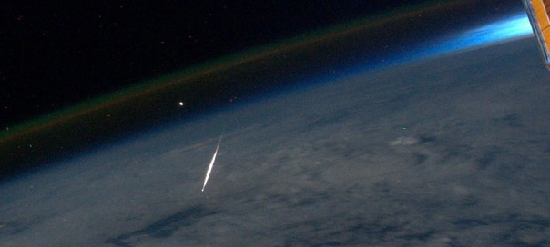 Photo of Perseid meteor as seen from the International Space Station by NASA