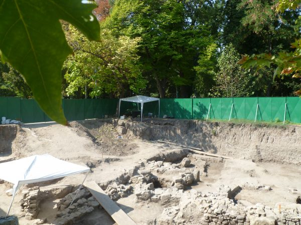 The archaeological dig site at the Forum, next to Plovdiv's central Post Office. Photo: Clive Leviev-Sawyer