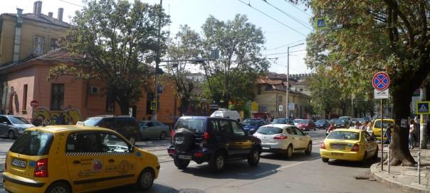 Dondoukov Boulevard, Sofia, between Volov Street and Vassil Levski Boulevard. Photo: Clive Leviev-Sawyer