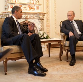 President Barack Obama meets with prime minister Vladimir Putin at his dacha outside Moscow, Russia, July 7 2009. Photo: White House.