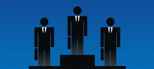 business people on a winners podium illustration ilker