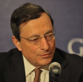 European Central Bank ECB President Mario Draghi