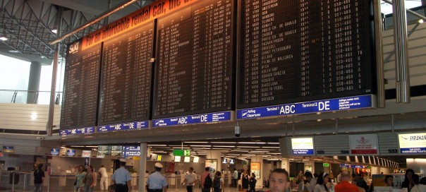 Frankfurt Airport Terminal 1 Information Board photo Rainer Ebert