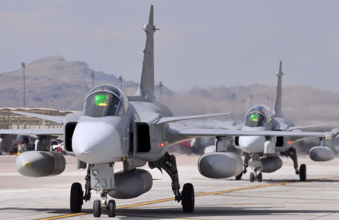 JAS 39 Gripen fighters. Photo: US Air Force
