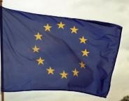 Europaflagge, wehend