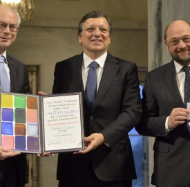 Ceremony to award the Nobel Peace Prize® to the EU