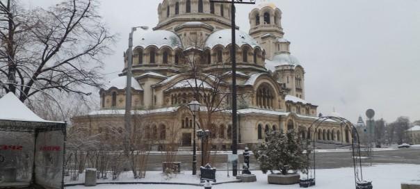 Alexander Nevsky cathedral Sofia Bulgaria January 2013 photo Clive Leviev-Sawyer