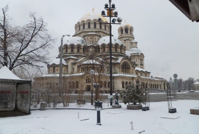 Alexander Nevsky cathedral Sofia Bulgaria January 2013 photo Clive Leviev-Sawyer
