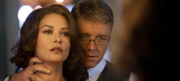Still of Russell Crowe and Catherine Zeta-Jones in Broken City. Photo by Alan Markfield – © 2012 - Twentieth Century Fox Film Corporation. All rights reserved. Not for sale or duplication.