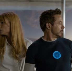 Still of Robert Downey Jr. and Gwyneth Paltrow in Iron Man 3. © 2012 MVLFFLLC. TM &2012 Marvel. All Rights Reserved.