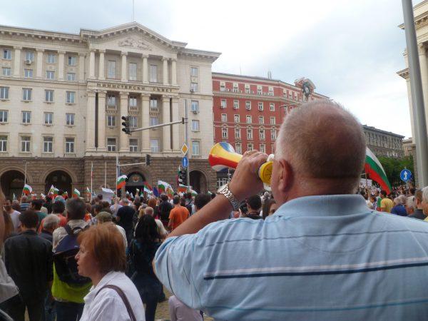 Peevski photo protest Clive Leviev-Sawyer
