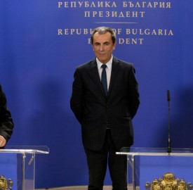 Left to right: President Rossen Plevneliev, Prime Minister Plamen Oresharski, Bulgarian Socialist Party leader Sergei Stanishev. Photo: president.bg