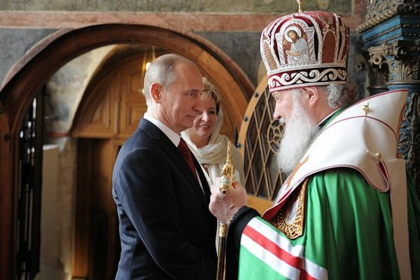 Russian President Vladimir Putin and Russian Orthodox Church Patriarch Kirill. Photo: kremlin.ru