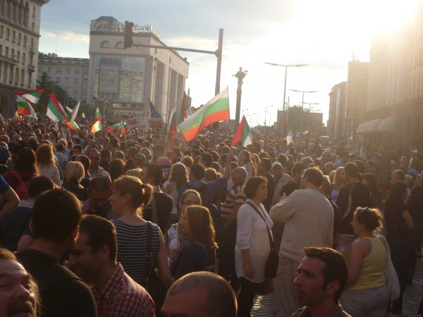 Anti-government protest in Sofia, July 25 2013. Photo: Clive Leviev-Sawyer