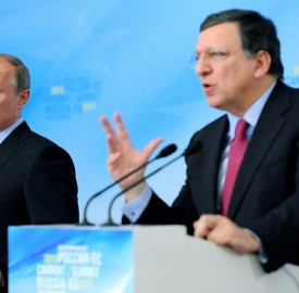 Russian presient Vladimir Putin and European Commision president Jose Manuel Barroso. Photo: kremlin.ru