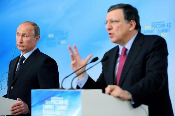 Russian presient Vladimir Putin and European Commision president Jose Manuel Barroso. Photo: kremlin.ru