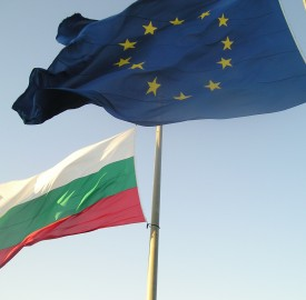 Bulgarian and EU flags