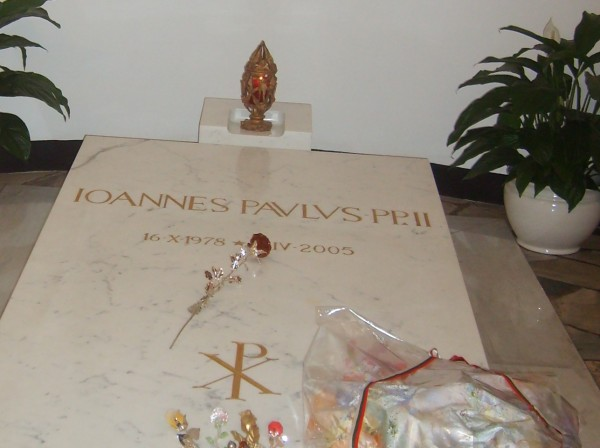 The tomb of Pope John Paul II in the Vatican. Photo: Clive Leviev-Sawyer, (c) The Sofia Globe