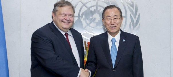 venizelos and ban ki-moon photo  UN Photo Amanda Voisard
