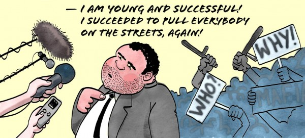 Peevski after the Constitutional Court case, as imagined by Svetoslav Popov.
