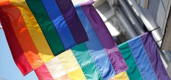 rainbow pride flags photo unaids