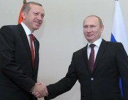 Turkish prime minister Recep Tayyip Erdogan and Russian President Vladimir Putin. Photo: kremlin.ru