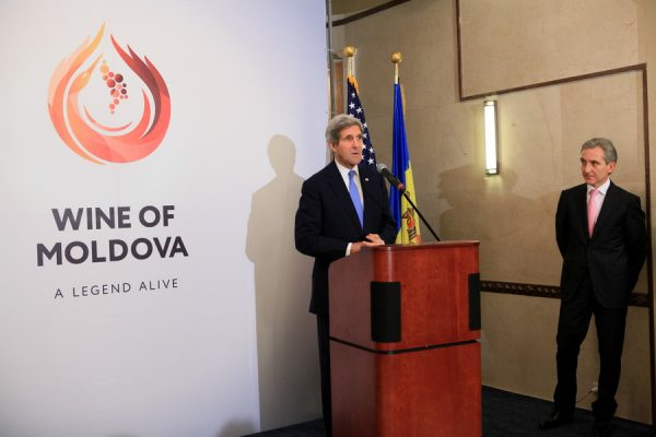 Moldova's EU deal got a symbolic reward for the Westward gesture, a visit to Chisinau by US secretary of state John Kerry. Photo: gov.md
